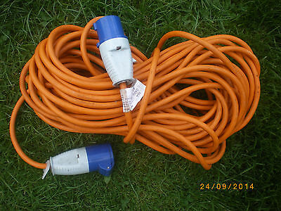 25 Metre 230v Caravan Camping Electric Hook Up Extension Mains Cable Lead