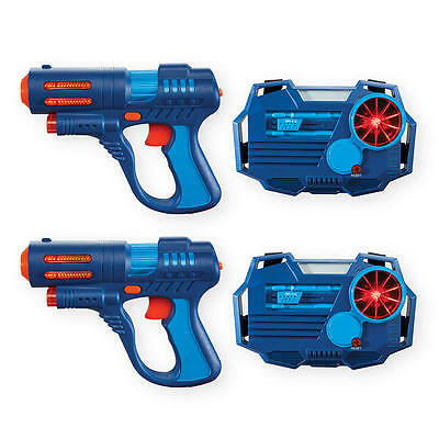 NEW 2 Player Laser Tag STATS BLAST 2 guns & vest receivers BLUE OR WHITE
