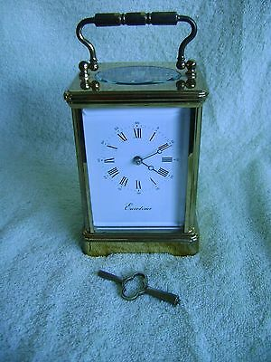 Large Top Quality L'epee Striking Carriage Clock + Key In Good Working Order