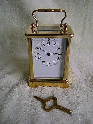 Fully Serviced L'epee Timepiece Carriage Clock In Gd Working Order ) + Key (2)