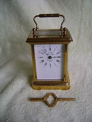 Vintage L'epee Timepiece Carriage Clock In Good Working Order ) + Key (1)