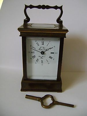 Vintage L'epee Timepiece Carriage Clock In Good Working Order ) + Key (4)