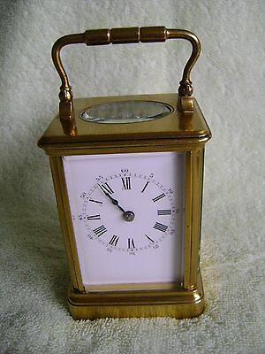 ANTIQUE DROCOURT SMALL CARRIAGE CLOCK TIMEPIECE IN GOOD WORKING ORDER No.29795