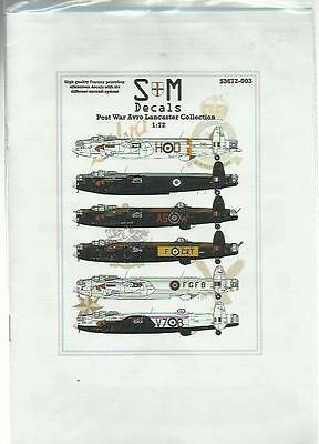 S&M Decals SM72-003 Avro Lancaster Post-war Collection in 1:72 Scale