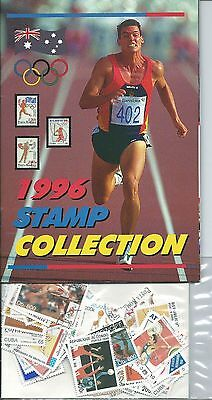 Olympic's Stamp Collector's Album & Stamps 1996  From World Wide Stamps