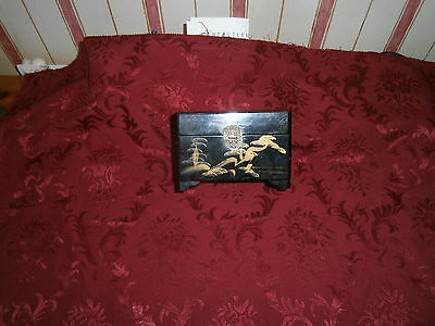 Vintage Japanese Black  Laquered Musical Box