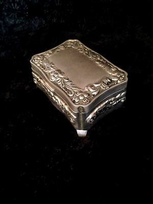 Box Silver Sterling Pill Antique Art Vintage Handmade Morocco old