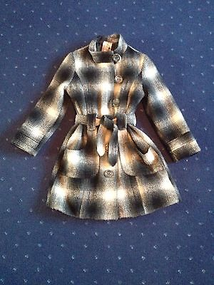 Girls Classic Wool Winter Coat Size Approx  7-8yrs