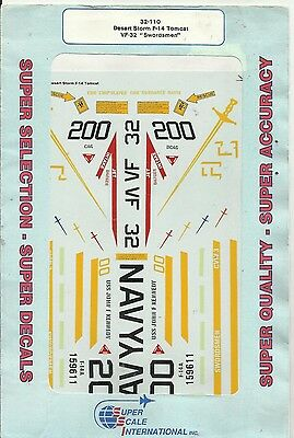 Microscale Superscale 32-110 F-14 Desert Storm Tomcat decals in 1:32 Scale