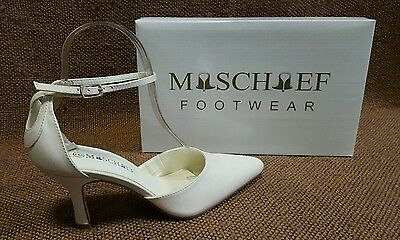 Ladies Shoes Mischief ALLURE Size 8 Ivory Bridal Formal Heels New in Box