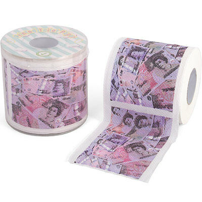 3 ROLLS X MONEY Toilet roll loo paper Pounds sterling cash New
