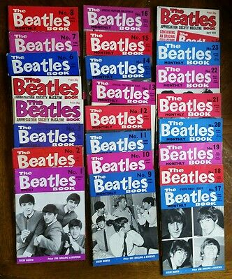 Beatles Monthly Book Magazines Complete Set 1 - 77 + Help Hard Days Night Books