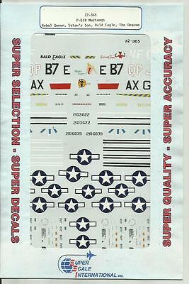 Microscale Superscale 72-365 P-51B F-6C Mustang decals in 1:72 Scale