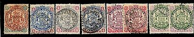 Rhodesia (BSAC) - Collection of Large Arms to 8d (1)
