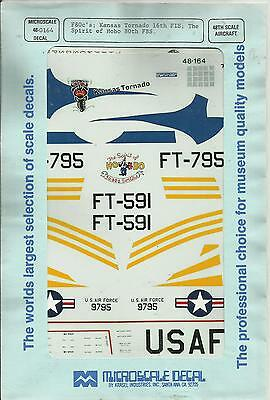 Microscale Superscale Decals 48-164 F-80C Shooting Star decals in 1:48 Scale