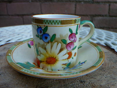 """Art Deco Keeling & Co """"Marguerite"""" ~ Losol Ware ~ Coffee Can / Cup and Saucer"""