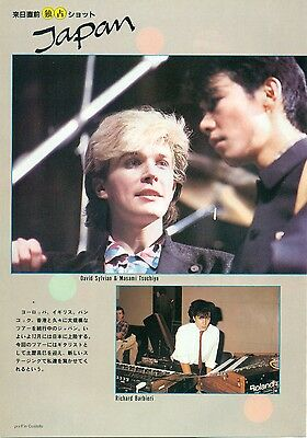 Japan / David Sylvian - Clippings From Japanese Magazine Music Life 12/1982