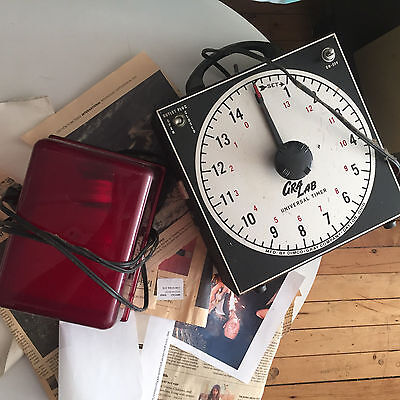 Gra Lab Cra-Lab Darkroom Timer 171 Nice  Working Great With Red Light