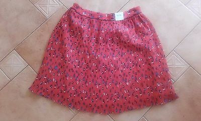 Fab *marks & Spencer* Adjustable Waist Red Ditsy Skirt Age 13-14 Bwnt(Rrp £18)