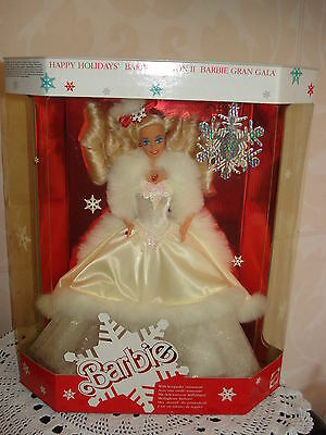 Poupee Barbie Collection Happy Holidays  Annee 1989 Tbeg