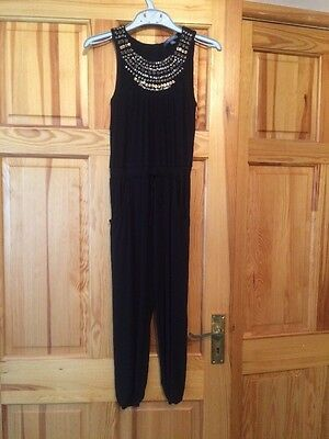Marks And Spencer Limited Collection Black Jumpsuit Age 8