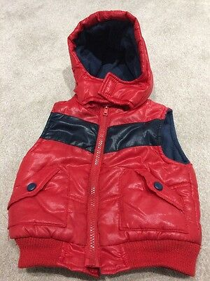 Boys 9-12months Red Body warmer