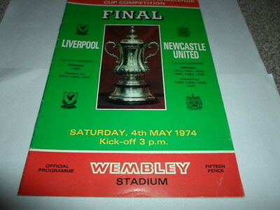 Liverpool v Newcastle United 1974 FA Cup Final Programme