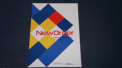 New Order - Live at Bestival - UK Promo Poster (Joy Division Oasis Stone Roses)