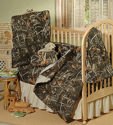 Realtree Max 4 Camo Camouflage Crib - Toddler Comforter, Baby Infant Camo