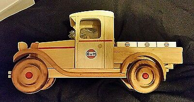 Handmade 1928 Chevrolet Pick-Up, Gulf Oil Co - signed by Leedom 2004