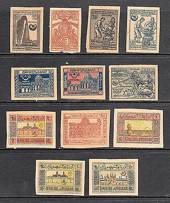Old Imperf Stamps From Azerbaijan Most Mnh