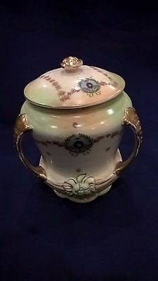 Antique Three Handled Vase and Lid