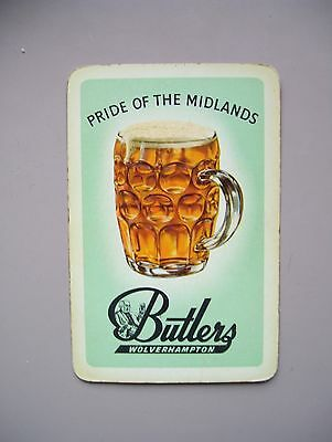 Vintage Butlers Brewery (Wolverhampton) Single Playing Card.(Ex).