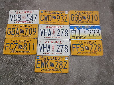 10 Alaska License Plate lot collecting, decorating or craft