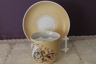 Antique Moustache Cup And Saucer - Remember Me - Unmarked