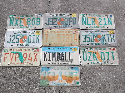 10 Florida License Plate lot collecting, decorating or craft # 2