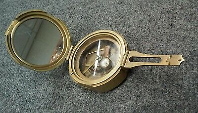Vintage Reproduction BRINTON 1862 CSA Brass Compass as is w losses
