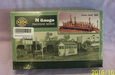 Ratio Trackside Series Cattle Dock 202 Kit N Scale