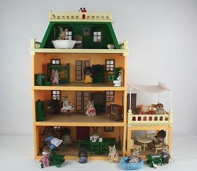 Sylvanian Families Original Deluxe Country Mansion with Box & Furniture