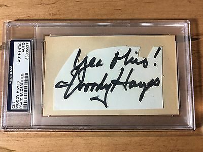 Woody Hayes Signed Cut Autograph Ohio State Buckeyes Football Autograph PSA/DNA