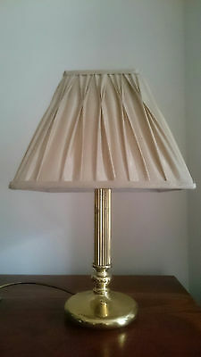 Vintage Brass Table Lamp Base & shade