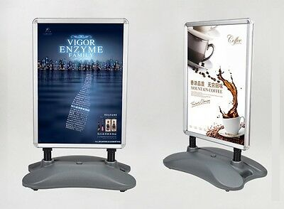 Outdoor A1 Snap A Frame Poster Stand Double Sided Business Sign Water Tank Base