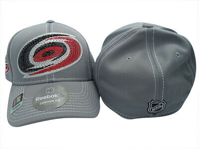 49a854223b6 Carolina Hurricanes Reebok NHL Second Season Center Ice FlexFit Hat Cap L XL