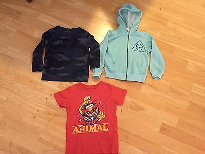 Bonds Jumper, Long Sleeve Tee And Animal T-shirt Size 4