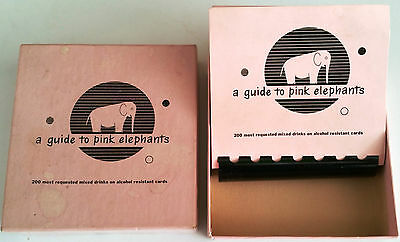 """A Guide to Pink Elephants"" 200 Cocktail Recipes / 1952 Bar Guide: Great Conditn"