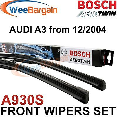 AUDI A3 From 12/2004 Onwards Genuine BOSCH A930S Aerotwin Front Wiper Blades Set