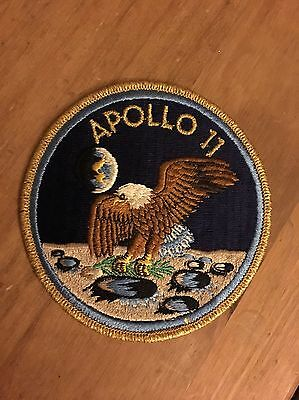 Apollo 11 Patch Badge Moon NASA From 1970 Eagle Has landed Patch Vintage