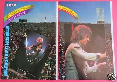 Emerson Lake & Palmer 1977 Clipping Japan Magazine Os 9A 4Page