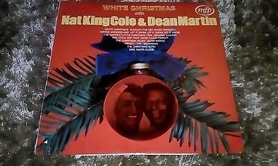 "White Christmas with Nat King Cole & Dean Martin 12"" vinyl LP"