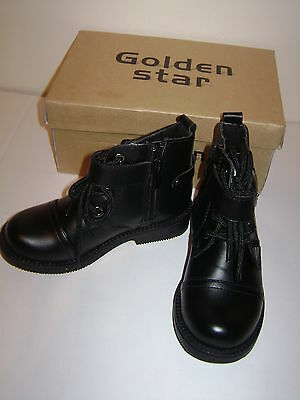 BNWT Golden Star Children's Black Boots junior size 7